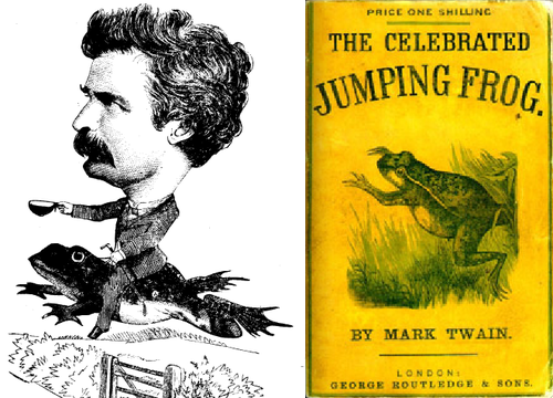 "the celebrated jumping frog of calaveras ""the celebrated jumping frog of calaveras county"" is a short story published in  1865 by mark twain it was his first big success and brought him wider."