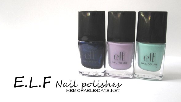 I only bought some nail polishes and make up brushes. I'm going to review and show you some swatches of the nail polishes today and I will review the ...