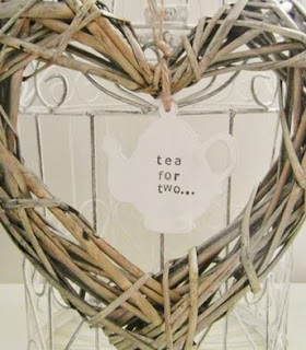 Personalised shabby chic tea pot decoration by Laura Ann for Random Button