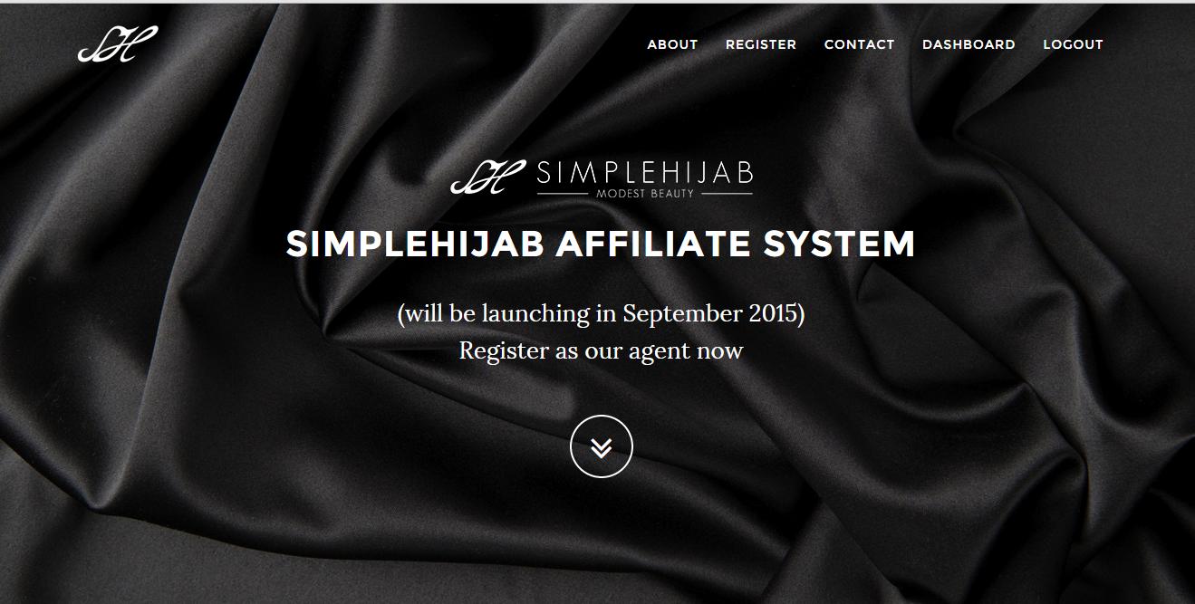 buat duit online dengan affiliate tudung SIMPLEHIJAB