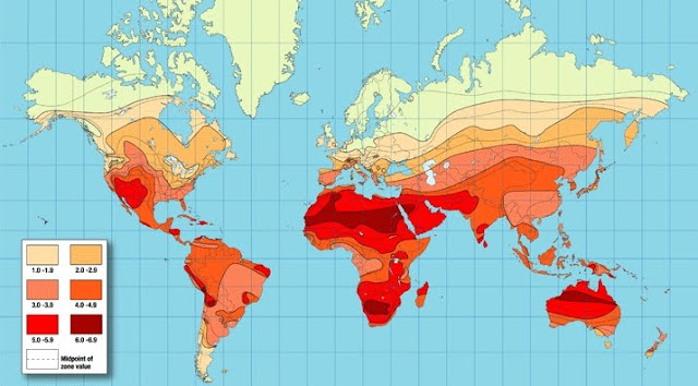 world solar radiation