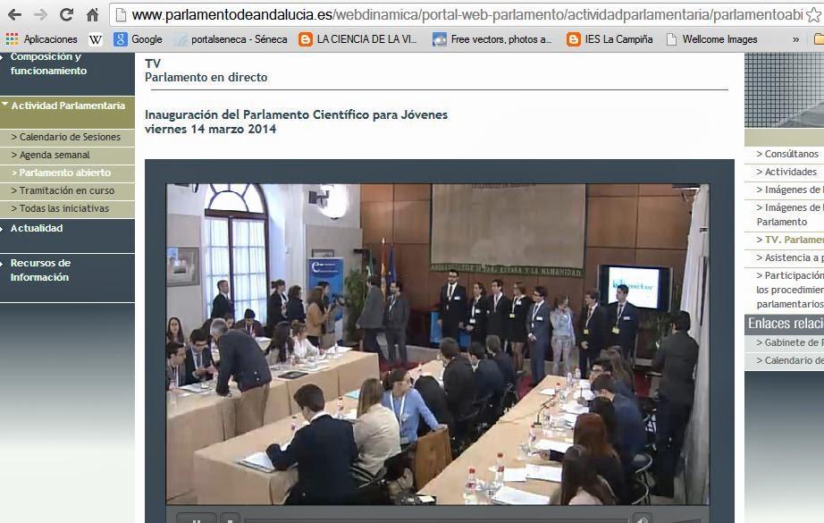 Ies la campi a emisi n en directo del parlamento for Streaming parlamento