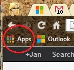 Chrome App Launcher on Bookmarks bar