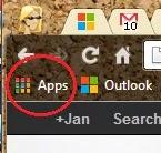 Chrome App Launcher on Bookmarks bar