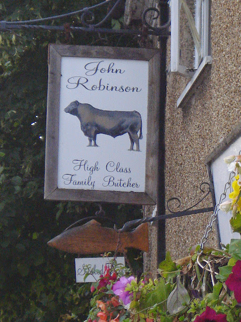 The butchers' sign