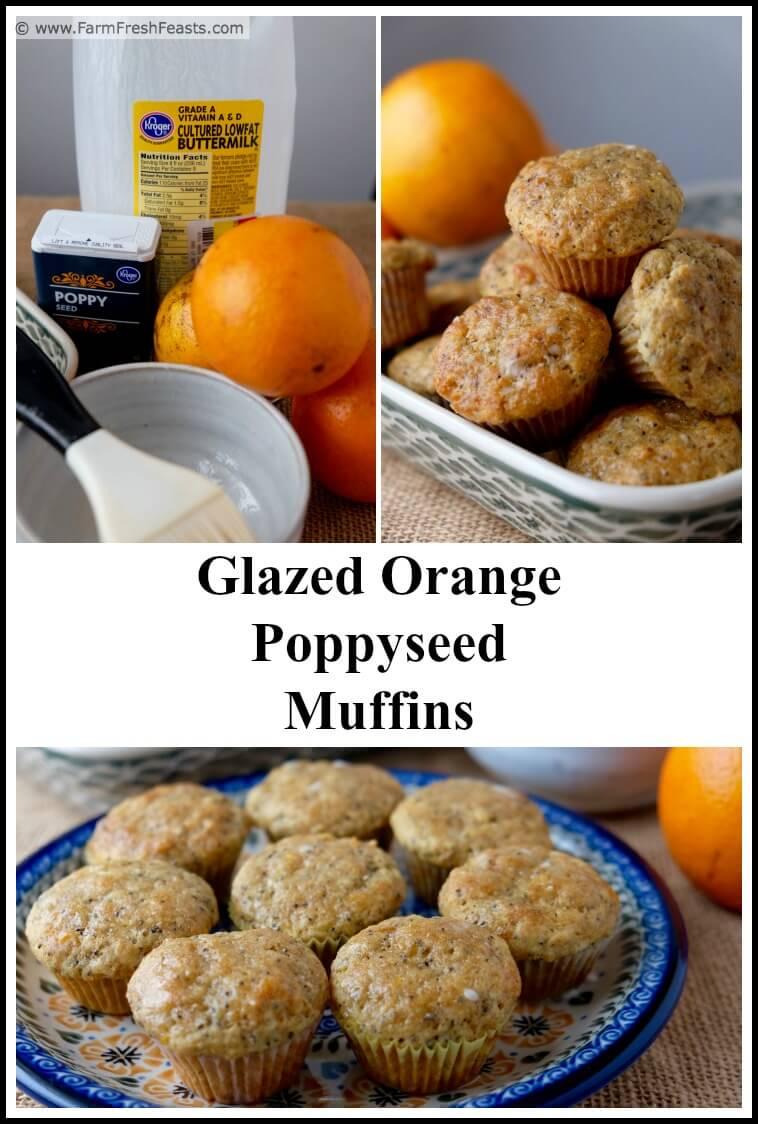 Farm Fresh Feasts Glazed Orange Poppyseed Muffins