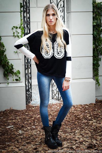 Moda invierno 2014 moda jeans.