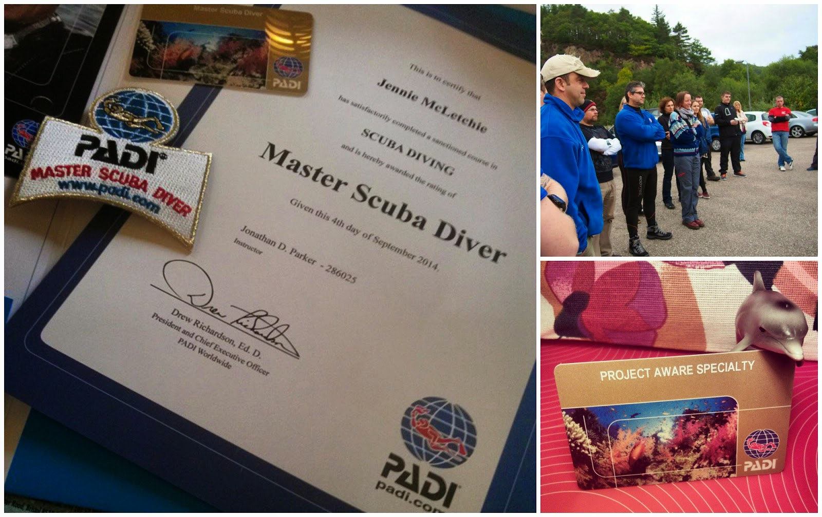 Frocktasia the padi master scuba diver is the highest non professional certification level in the padi system of diver education it has been so much fun getting to xflitez Gallery