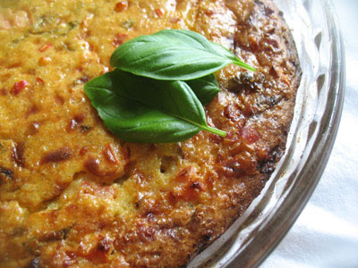 Tomato and Goat Cheese Crustless Quiche with Quinoa