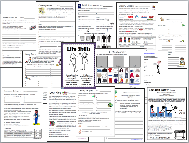 Life Skills Worksheets Free Free Worksheets Library | Download and ...