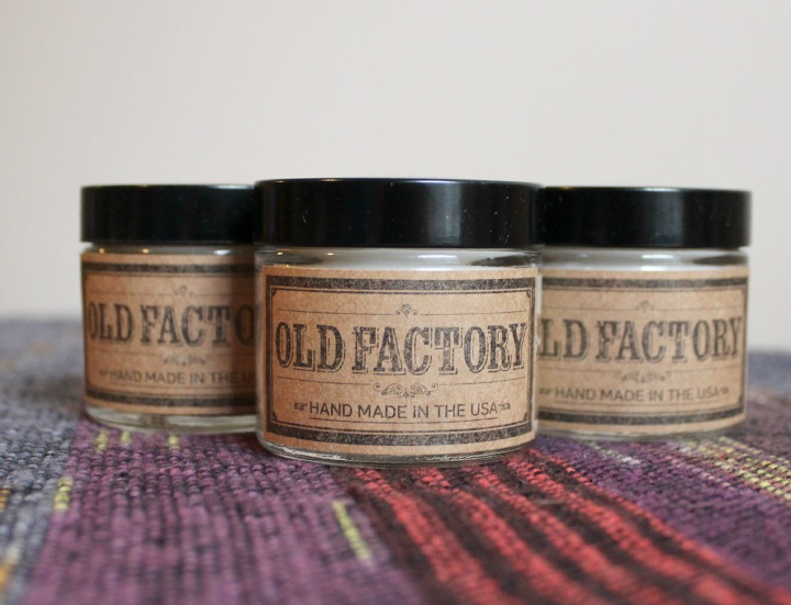 Old Factory Candles gift set jars