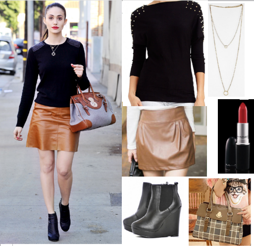 Emmy Rossum - celebrity fashion - copycat queen v