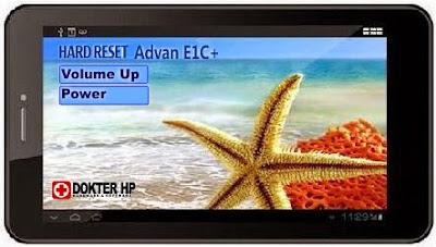 Hard Reset Advan E1C+ Sukses Reset Pola Kunci