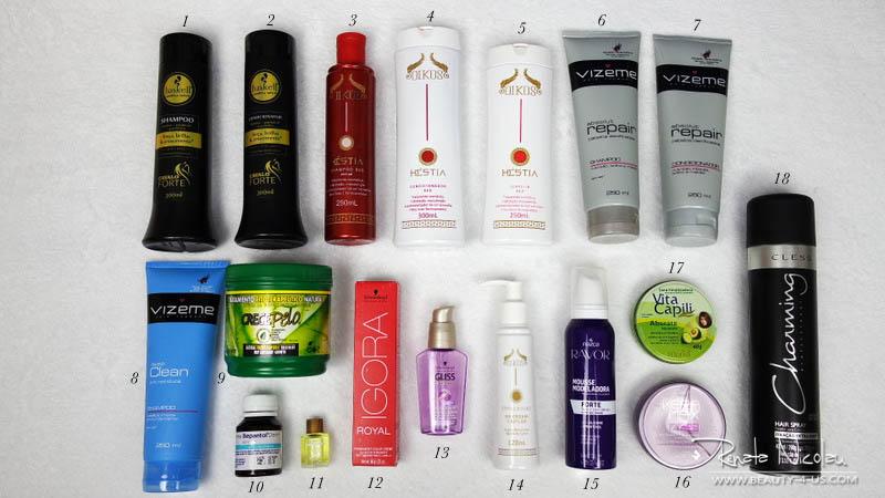 Quais produtos eu uso no cabelo?