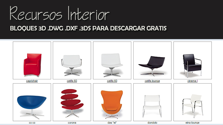 2015 Recursos Interior Autocad Descargas Dwg Ideas