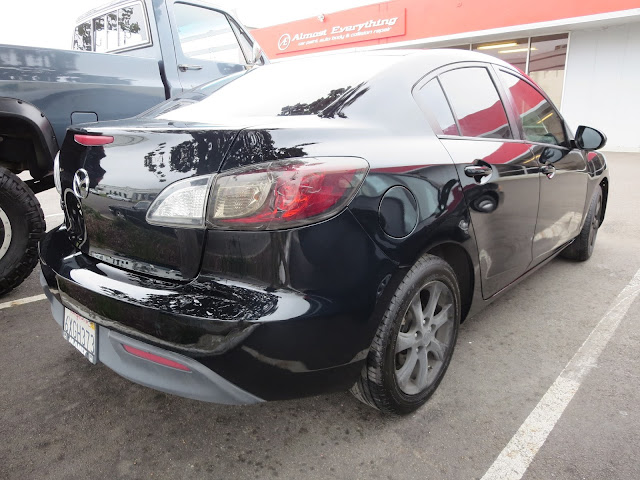 Mazda 3 after repainting at Almost Everything Auto Body