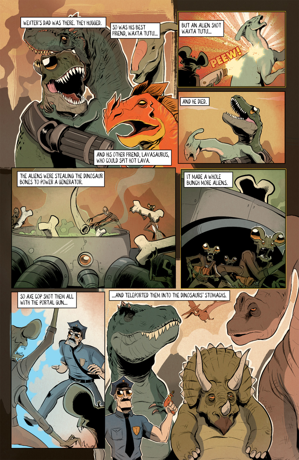 Read online Axe Cop: Bad Guy Earth comic -  Issue #2 - 6
