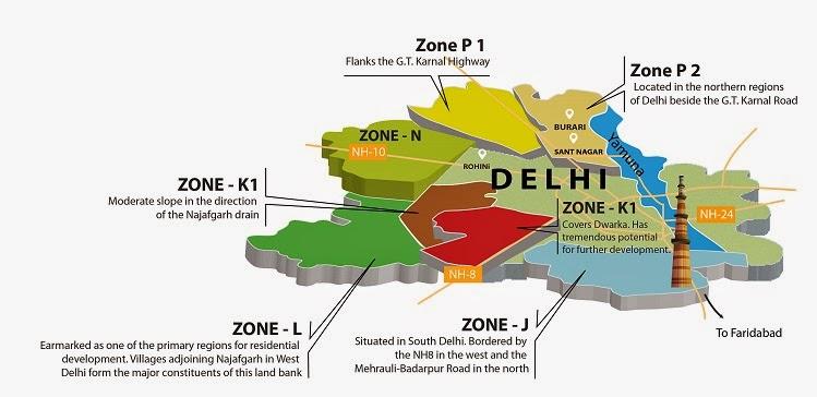 Dda l zone delhi for Zone plan