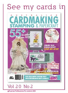 On the cover of Australian Cardmaking Stamping & Papercraft Magazine.
