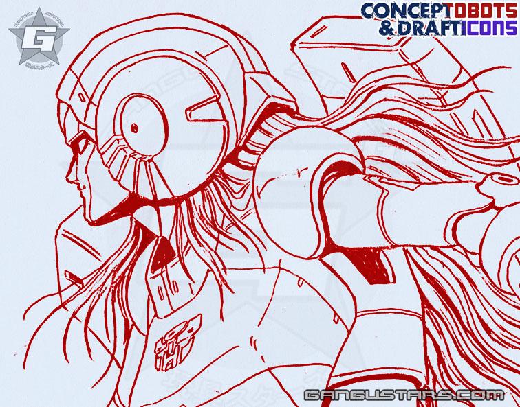 Arcee アーシー Studio OX Transformers design sketch art スタジオOX トランスフォーマー タカラ