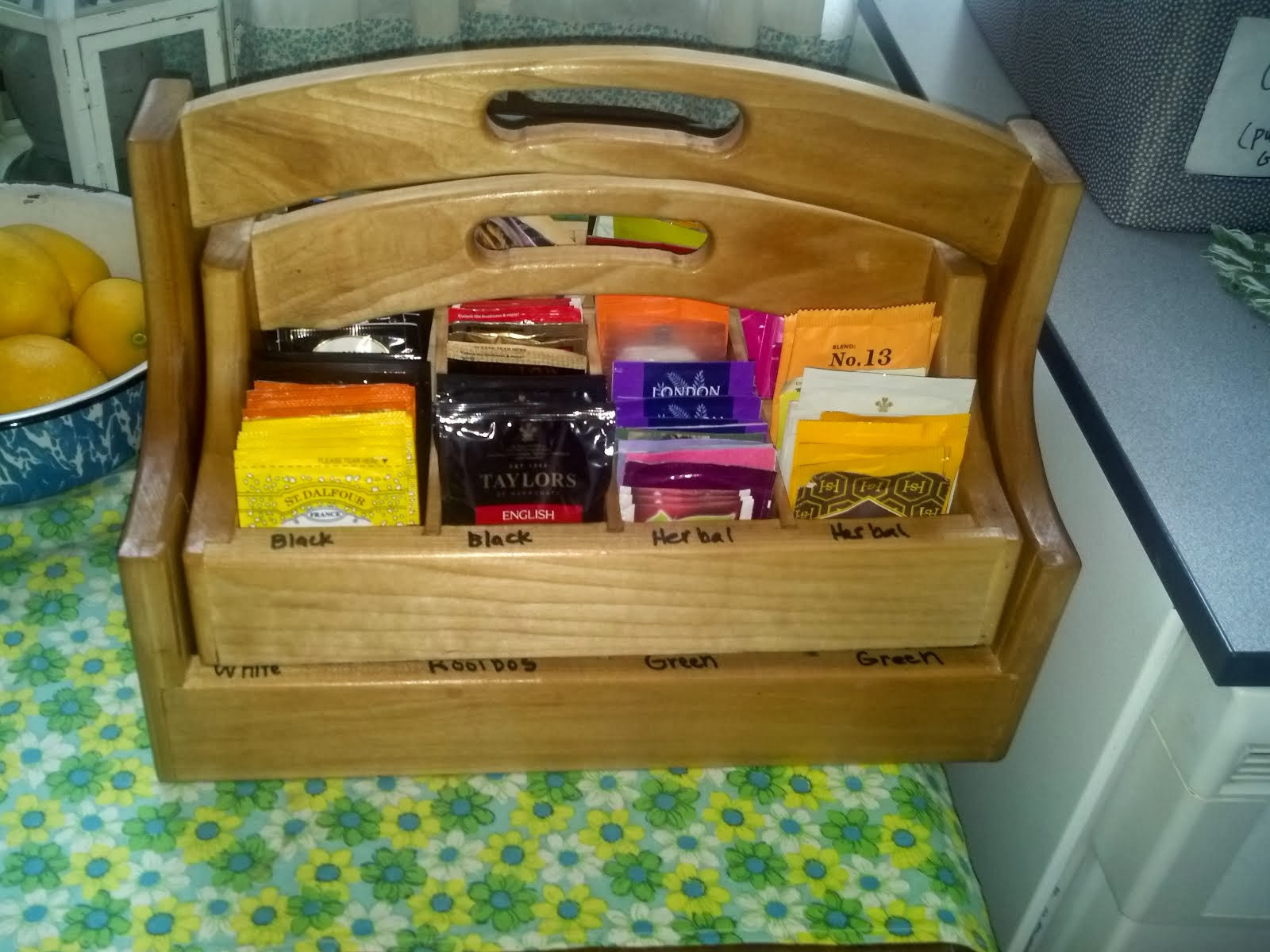 handmade tea caddy $60.00