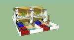 Projetos das casas duplex na praia da Taiba