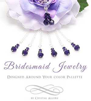 Custom Bridesmaid Jewelry to Match Your Wedding Colors by Crystal Allure Jewelry
