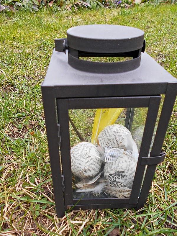 Sonnenblumes kreative welt eier hinter glas - Bilder mit zeitungspapier ...