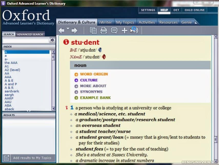 Hướng dẫn cài đặt và crack từ điển Dictionary Oxford 8th free full