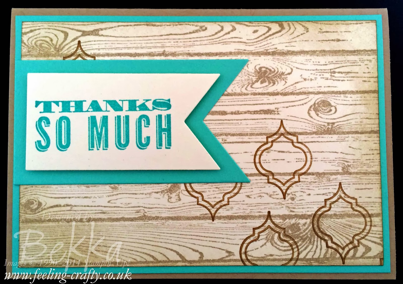 Oh Hello and Thank You!  Card by UK Stampin' Up! Demonstrator Bekka Prideaux - check out her blog!