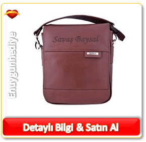 Erkek için deri el çantası