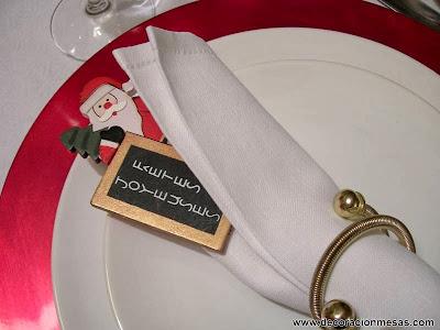 Decoracion mesa Navidad Servilletero 8