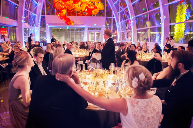 wedding reception at chihuly garden and glass