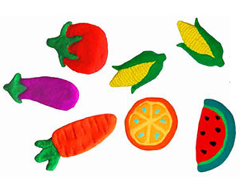 Fruit and Veggie Fridge Magnets