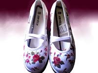 Sepatu Lukis jean 204 Cewek Rp 125 000,sepatu lukis bunga