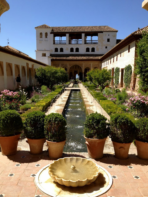 Beautiful Alhambra courtyard and garden on Semi-Charmed Kind of Life