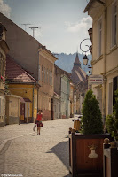 The Streets of Brasov Romania