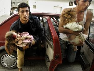 Palestinian children victims of bombs