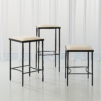 hammered iron bar stool