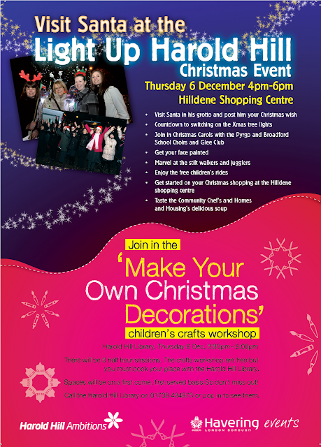 Poster for Light Up Harold Hill - Thursday 6 December 4-6pm