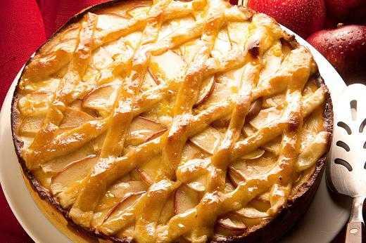 Torta de Maçã com catupiry receita