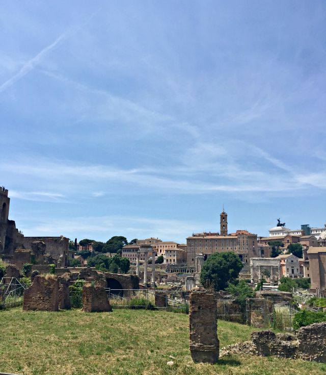 Rom mit Kindern im Forum Romanum
