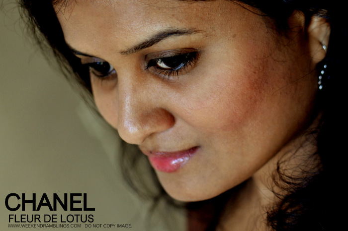 Chanel Makeup Joues Contraste Blush Fleur De Lotus FOTD Beauty Blog Looks Reviews Swatches Ingredients