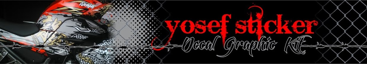 YOSEF CUTTING STICKER  (SURABAYA CUTTING STICKER  NINJA 250) STICKER (ninja 250 decal sticker)