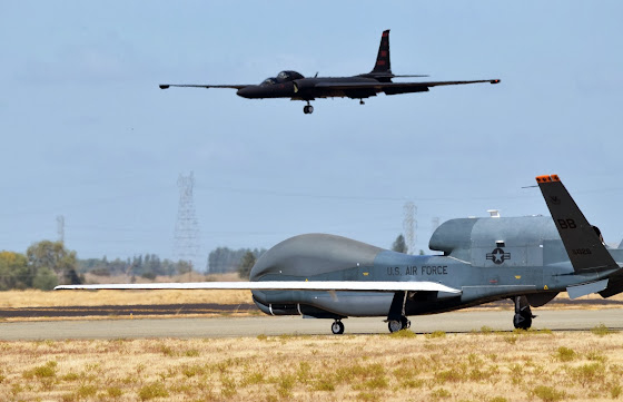 U-2 Dragon Lady and RQ-4 Global Hawk
