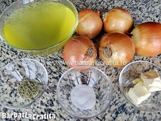 Supa de ceapa ingrediente reteta