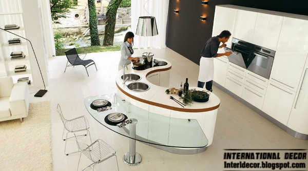 modern kitchen island design, ideas,white kitchen