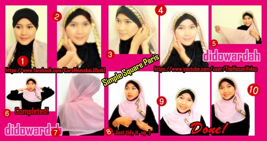 Tutorial Jilbab untuk Hijaber Indonesia: Cara Memakai Jilbab Paris ...