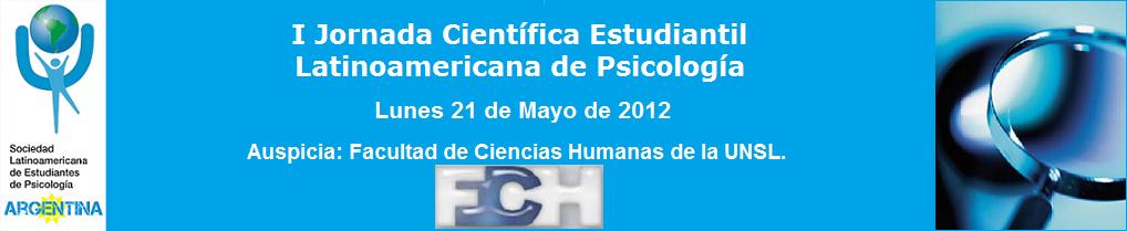 I Jornada Científica Estudiantil Latinoamericana de Psicología.