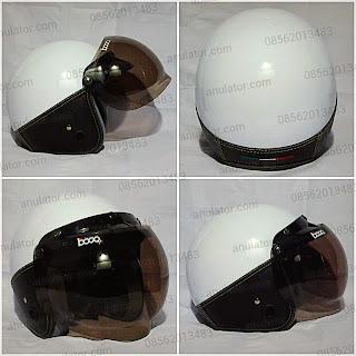 Helm Policia White + Mika Bogo